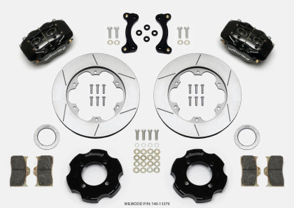 Wilwood Forged Dynalite Front Hat Kit 11.00in GT Rotor 95-05 Miata