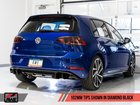 AWE Tuning MK7.5 Golf R SwitchPath Exhaust w/ Diamond Black Tips 102mm