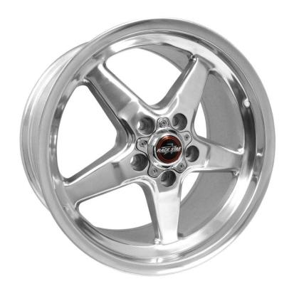 Race Star 92 Drag Star 17x9.50 5x4.50bc 6.88bs Direct Drill Polished Wheel
