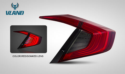 Vland Honda Civic 2016-2019 Tailight ( Red Lens ) - GUMOTORSPORT