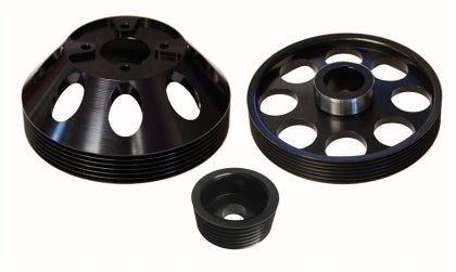 Torque Solution Lightweight WP/Crank/Alt Pulley Combo (Black): Hyundai Genesis Coupe 3.8 2010+
