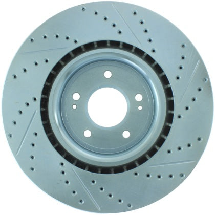 StopTech Select Sport 08-11 Mitsubishi Evo X Slotted and Drilled Front Rotor