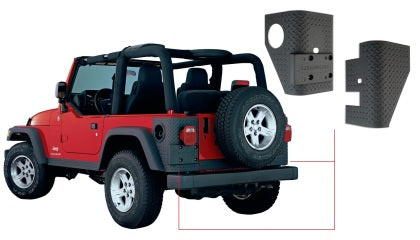 Bushwacker 97-06 Jeep Wrangler Trail Armor Rear Corners - Black