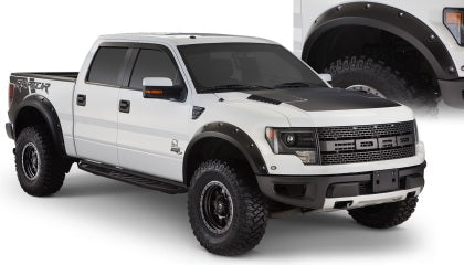Bushwacker 10-14 Ford F-150 SVT Raptor Pocket Style Flares 4pc - Black