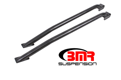 BMR 79-04 Fox Mustang Hardtop Only Weld-On Boxed STD. Subframe Connectors - Black Hammertone