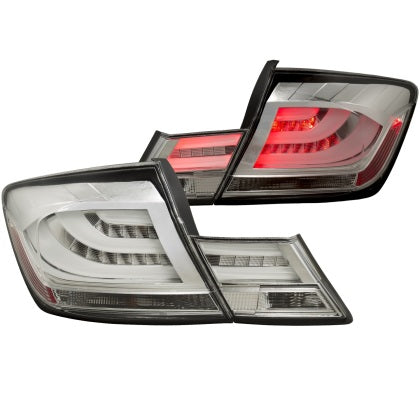 ANZO 2013-2015 Honda Civic (excludes hybrid) LED Taillights Chrome