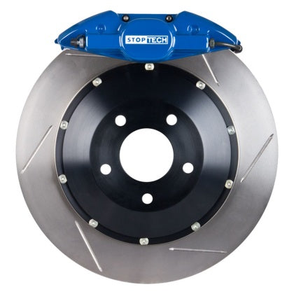 StopTech 13 Subaru BRZ BBK Rear ST-22 Blue Calipers 345x28mm Slotted Rotors