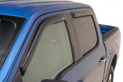 AVS 15-18 Ford F-150 Supercab Ventvisor Outside Mount Window Deflectors 4pc - Smoke