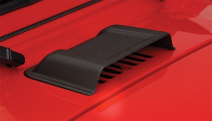 Bushwacker 98-18 Jeep Wrangler Trail Armor Hood Scoop (Smooth ABS) - Black