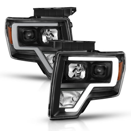ANZO 2009-2014 Ford F-150 Projector Light Bar H.L Black Amber