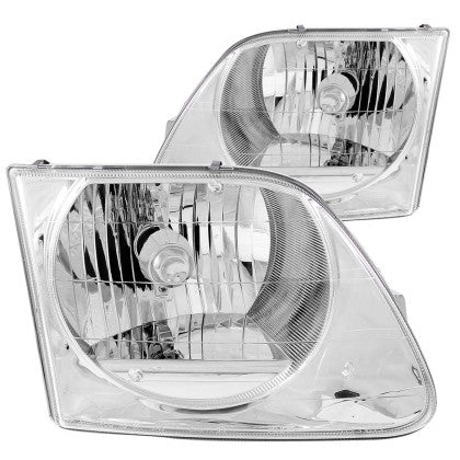 ANZO 1997-2003 Ford F-150 Crystal Headlights Chrome