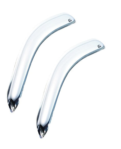 AVS 04-14 Ford F-150 Supercab Outside Mount Front Window Ventvisor 2pc - Chrome