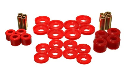 Energy Suspension 03-09 Dodge RAM 1500/2500/3500 Pickup Red Front End Control Arm Bushing Set