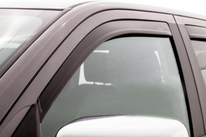 AVS 15-18 Ford F-150 Supercrew Ventvisor Low Profile Window Deflectors 4pc - Matte Black