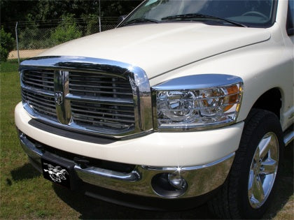 Stampede 2006-2008 Dodge Ram 1500 Center Only Vigilante Premium Hood Protector - Chrome