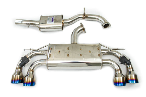 Invidia Catback Exhaust suit Golf Mk7.5 suit Factory Valves, Round Ti Rolled Tips