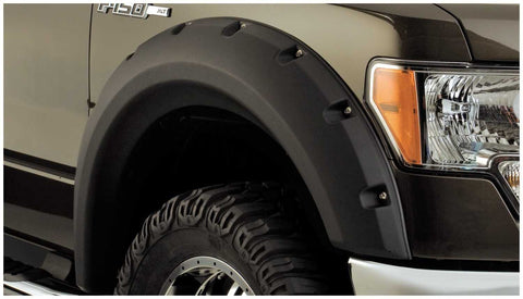 Bushwacker 09-14 Ford F-150 Styleside Max Pocket Style Flares 4pc 67.0/78.8/97.4in Bed - Black