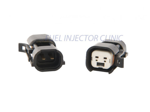 Fuel Injector Clinic Set of 4 US Car/EV6 Hard (female) to Denso (male) injector plug adaptors (PADPUtoD4) - GUMOTORSPORT