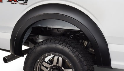Bushwacker 15-17 Ford F-150 Styleside Extend-A-Fender Style Flares 2pc 67.1/78.9/97.6in Bed - Black