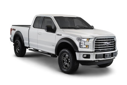 Bushwacker 15-17 Ford F-150 Styleside Extend-A-Fender Style Flares 4pc 67.1/78.9/97.6in Bed - Black