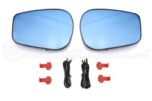 OLM Heated Wide Angle Convex Mirrors w/ Turn Signals Blue / Golden/ Clear - Scion FR-S 2013-2016 / Subaru BRZ 2013+ / Toyota 86 2017+