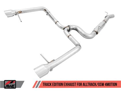 AWE Tuning VW MK7 Golf Alltrack/Sportwagen 4Motion Track Edition Exhaust - Polished Silver Tips