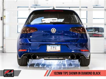 AWE Tuning MK7.5 Golf R Track Edition Exhaust w/ Diamond Black Tips 102mm