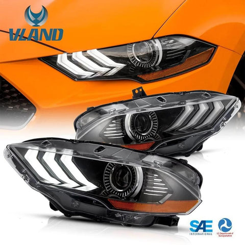 Vland headlights mustang 2018 -2019