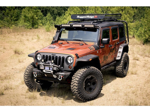 Rugged Ridge Hurricane Flat Fender Flare Kit 07-18 Jeep Wrangler