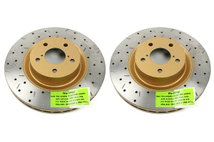 DBA 4000 Series Drilled/Slotted Rotor Pair Front - Subaru Models (inc. 2002-2014 WRX)