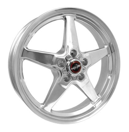 Race Star 92 Drag Star 18x5.00 5x4.50bc 2.00bs Direct Drill Polished Wheel