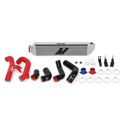 Mishimoto 2016+ Honda Civic 1.5T / 2017+ Honda Civic Si Silver Intercooler Kit w/Red Pipes