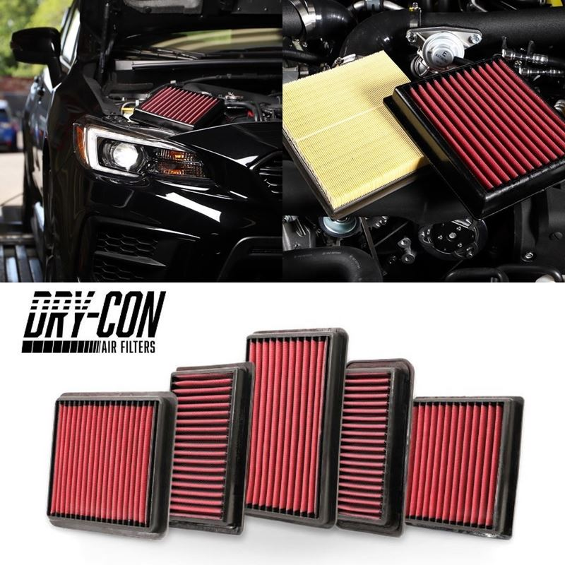 GrimmSpeed Dry-Con Performance Panel Air Filter - Subaru Models (inc. STI 2008 - 2018)