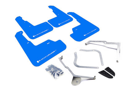 Rally Armor 15+ Subaru WRX/STi Sedan UR Blue Mud Flap w/ White Logo