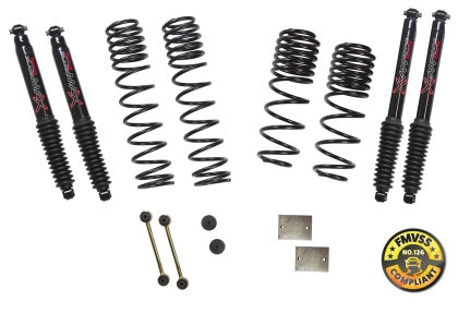 Skyjacker 2018 Jeep Wrangler JL 4 Door 4WD (Non-Rubicon) Long Travel 2 Stage 1in-1.5in Coil System