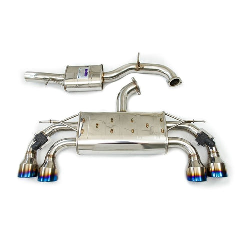 Invidia 17-21 Volkswagen Golf R MK7.5 Valved Q300 Rolled Stainless Steel Tip Cat-Back Exhaust