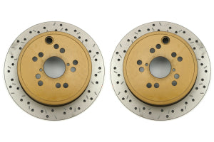 DBA 4000 Series Drilled/Slotted Rotor Rear Pair - Subaru Models (inc. 2008+ WRX / 2003+ Forester)