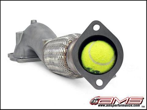 AMS Performance 08-15 Mitsubishi EVO X Widemouth Downpipe w/Turbo Outlet Pipe - GUMOTORSPORT