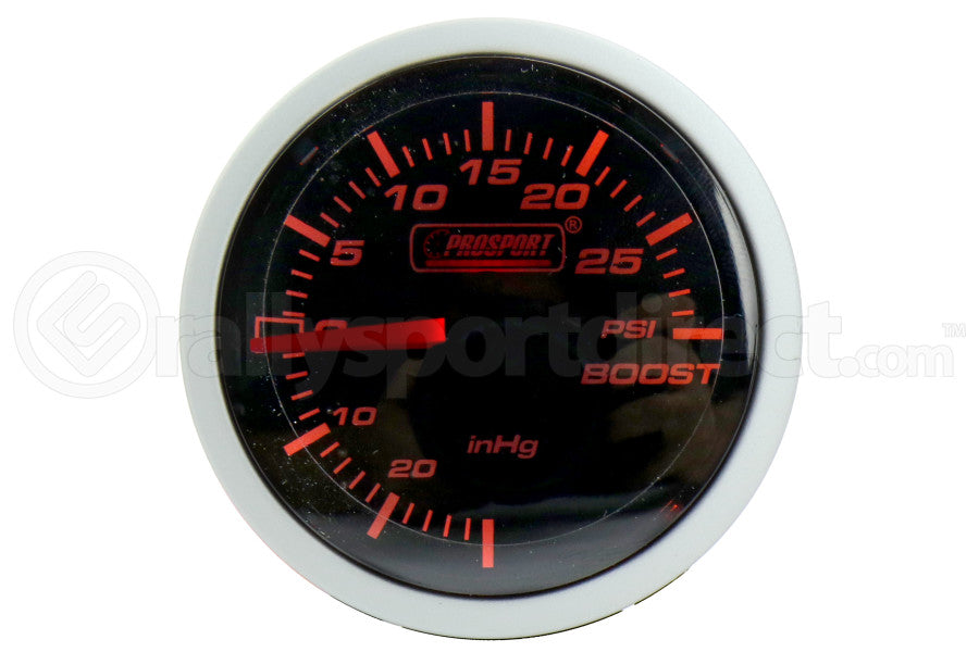 ProSport Boost Gauge Mechanical Amber/White 52mm - Universal