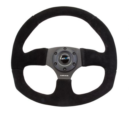 NRG Suede Leather Universal Steering Universal Wheel (RST-009S) - GUMOTORSPORT