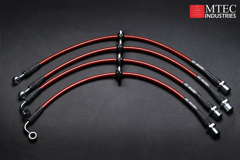 MTEC Industries Brake Lines Red - Scion FR-S 2013-2016 / Subaru BRZ 2013+ / Toyota 86 2017+