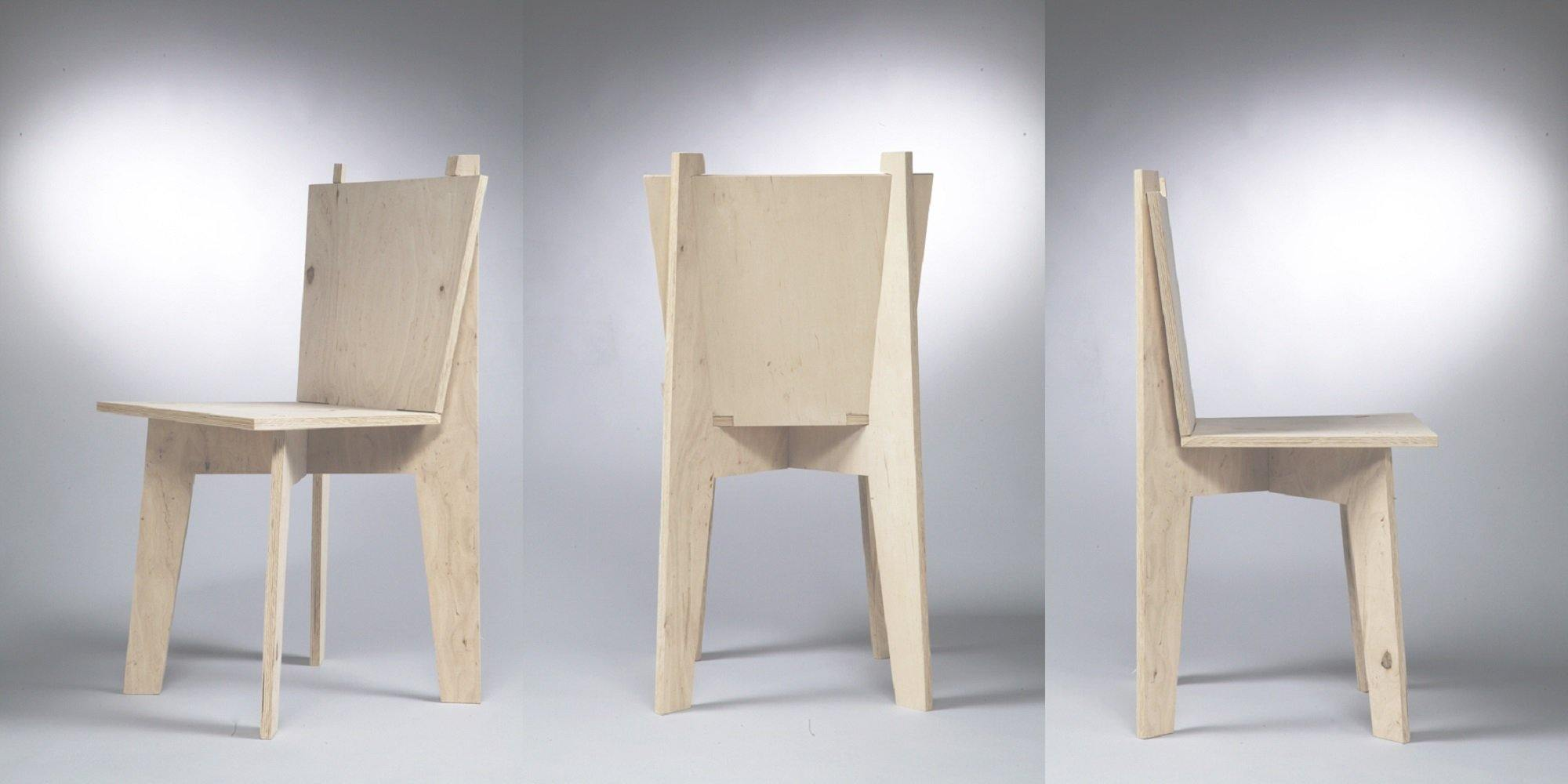 Simple Furniture Chair - skleia.com - handmade ergonomic ecologic plywood furniture