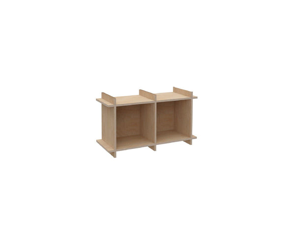 "Plywood Record Box Bookshelf	-	1x2	33cm / 13"" Box	-	46x80,5x33cm	/	18""x31.7""x13"" - skleia.com"