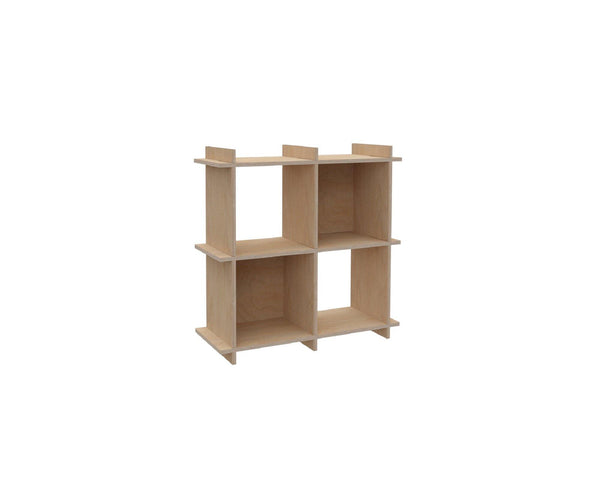 "Plywood Record Box Bookshelf	-	2x2	33cm / 13"" Box	-	80,5x80,5x33cm	/	31.7""x31.7""x13"" - skleia.com"