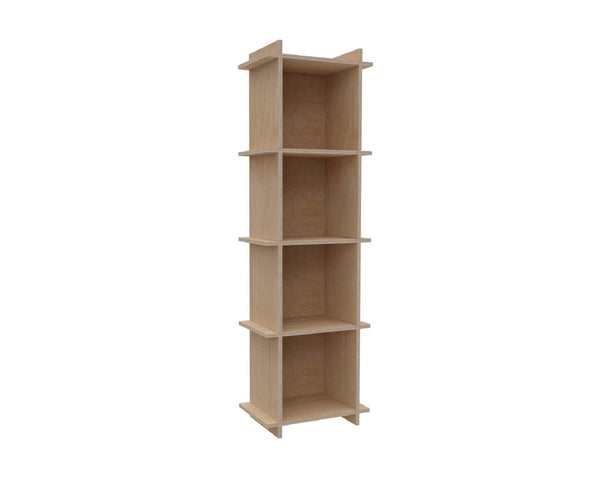 "Plywood Record Box Bookshelf	-	1x4	33cm / 13"" Box	-	46x149,5x33cm	/	18""x58.8""x13"" - skleia.com"
