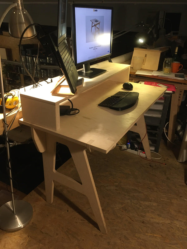 Home Office Set - Mono Desk + Rack Monitor Stand - skleia.com