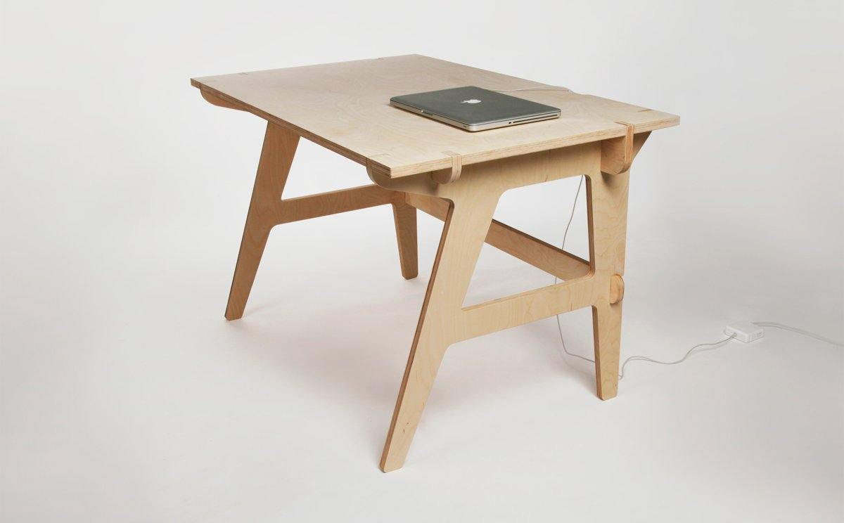 MonoDesk - Modern Eco Plywood Office Desk - M size (140x70cm) - skleia - custom size plywood furniture - handmade ergonomic ecologic plywood furniture