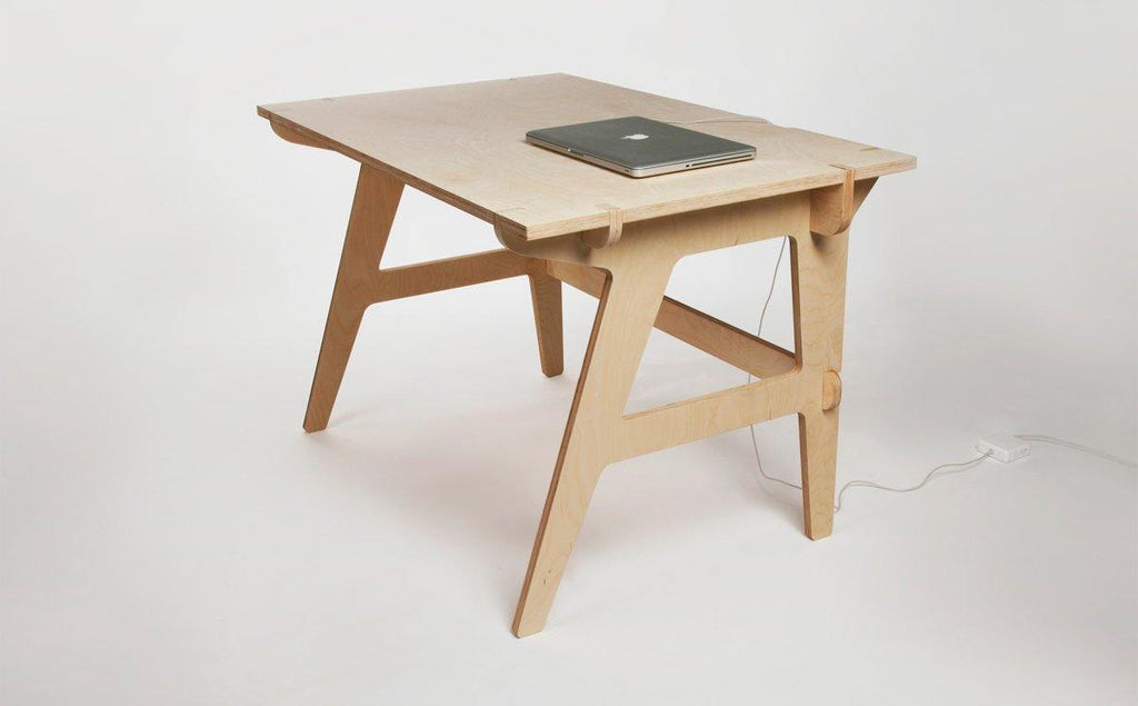 MonoDesk - Modern Eco Plywood Office Desk - S size (120x60cm) - skleia - custom size plywood furniture and accessories for musicians and home office - handmade ergonomic ecologic plywood furniture