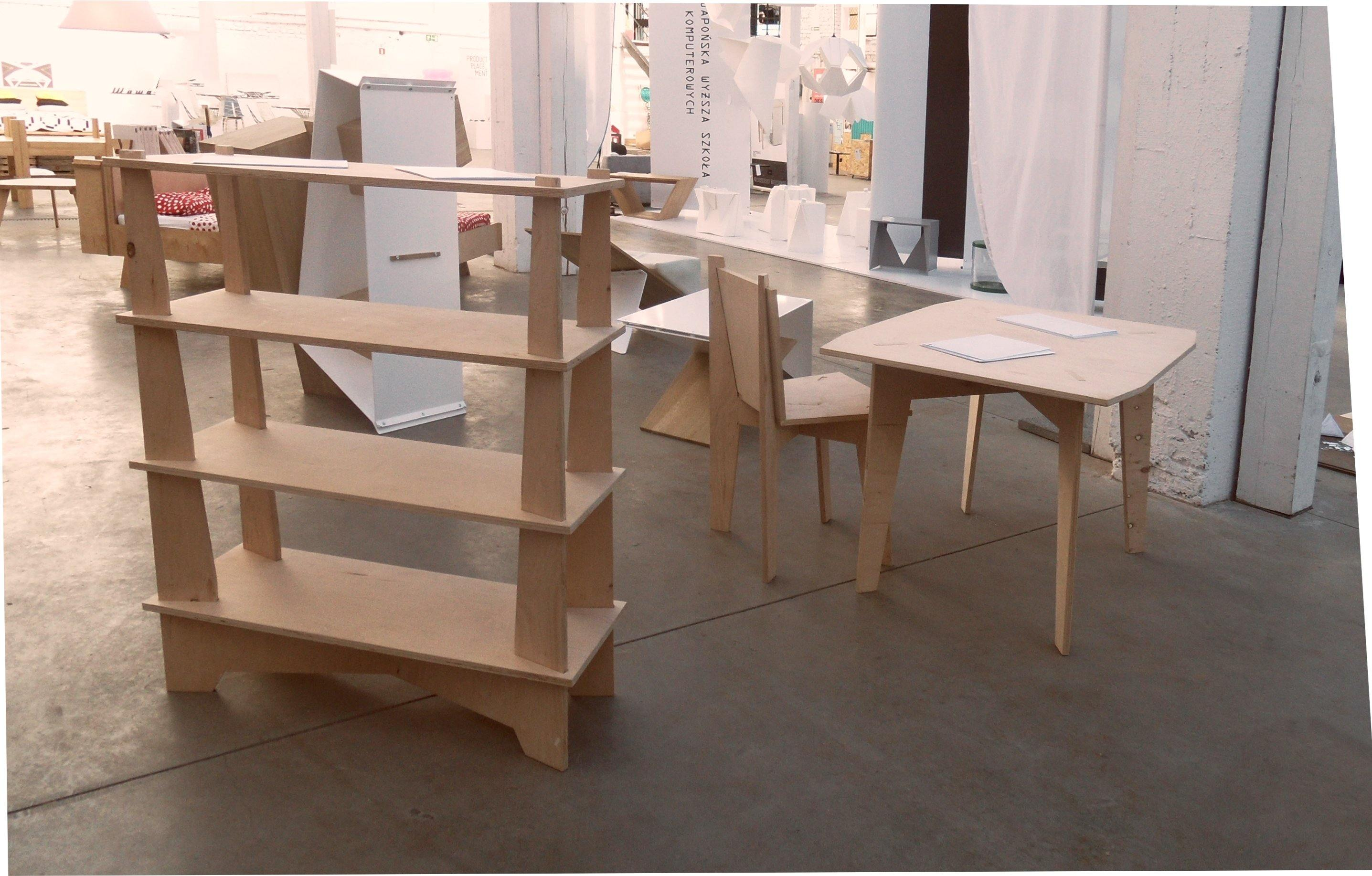 Simple Furniture Table - skleia.com - handmade ergonomic ecologic plywood furniture