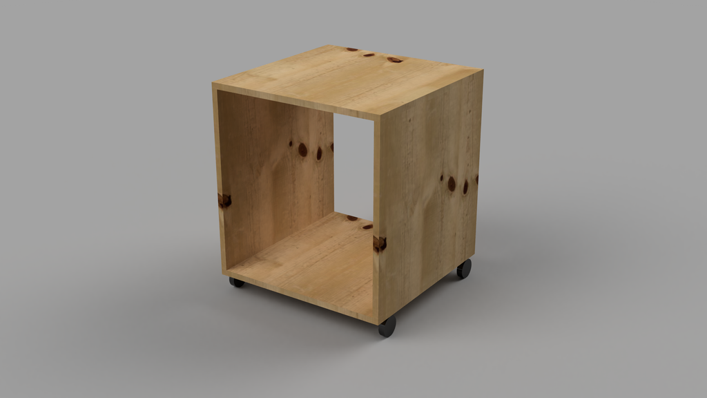 Bedside Table With Wheels - skleia.com - handmade ergonomic ecologic plywood furniture